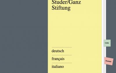 Premio Studer/Ganz per prosa inedita d'esordio