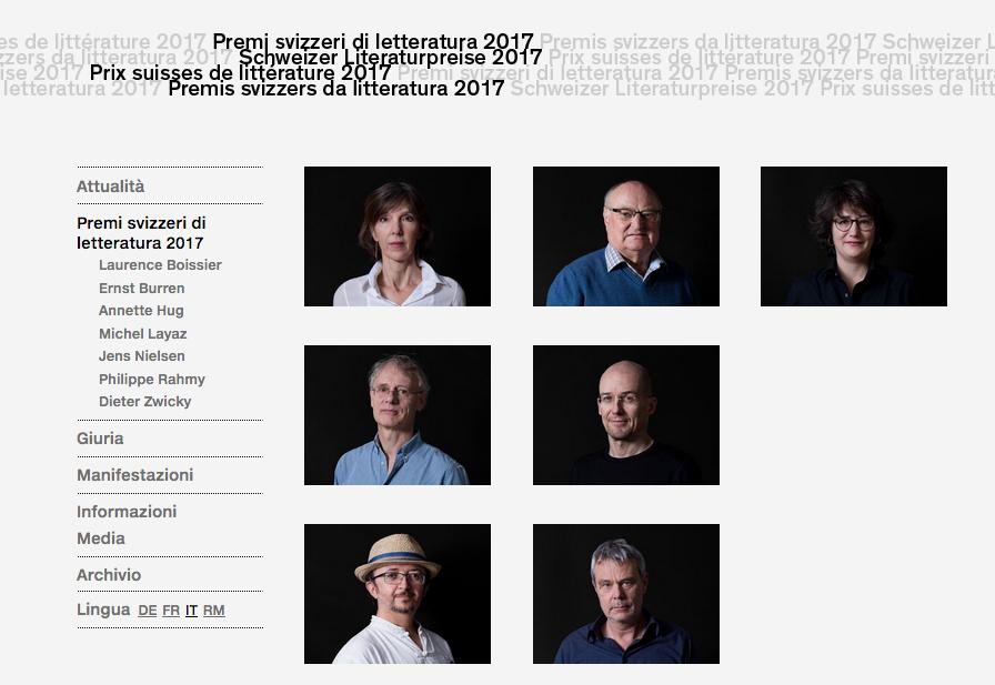 Tournée dei Premi svizzeri di letteratura 2017